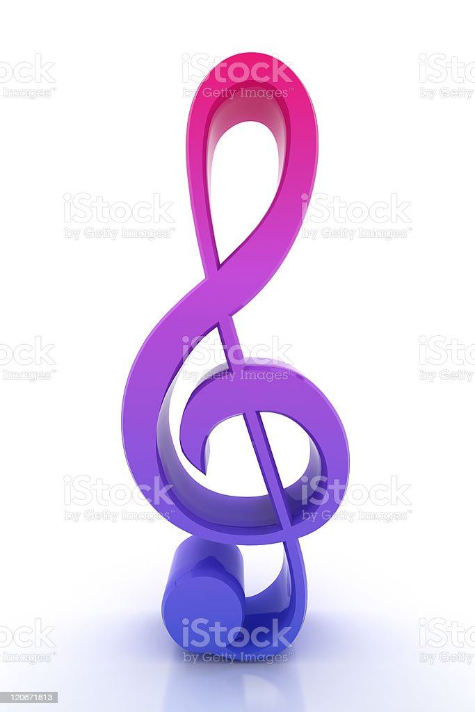3d render musical note stock photo