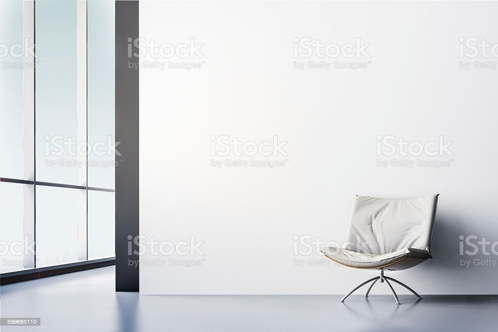 3d render of beautiful clean interior stock photo