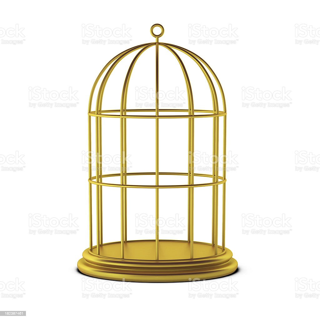 3d render of bird cage stock photo