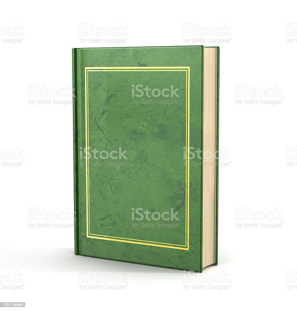 3d render of empty book. stock photo