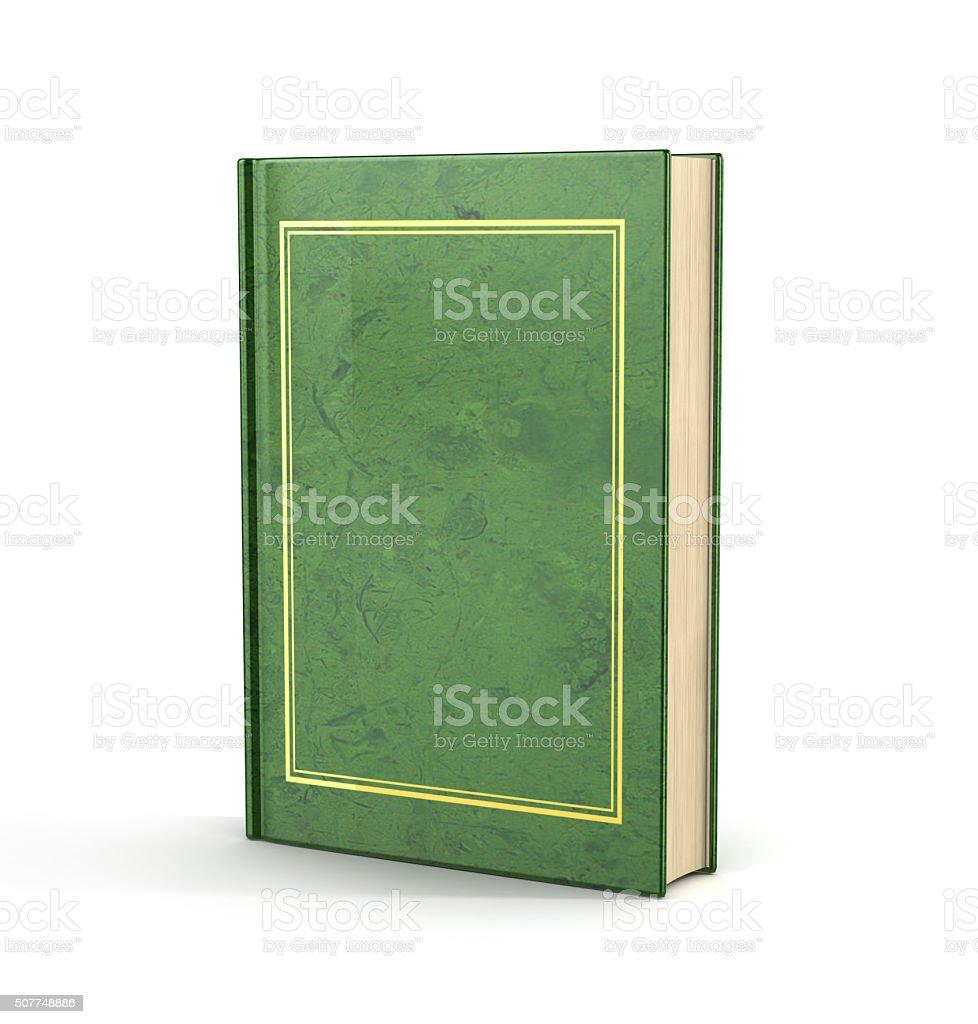 3d render of empty book. stock photo