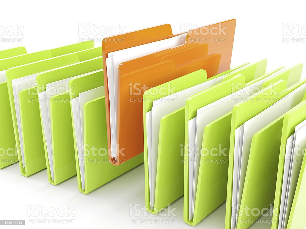 3d render of folder incon royalty-free stock photo