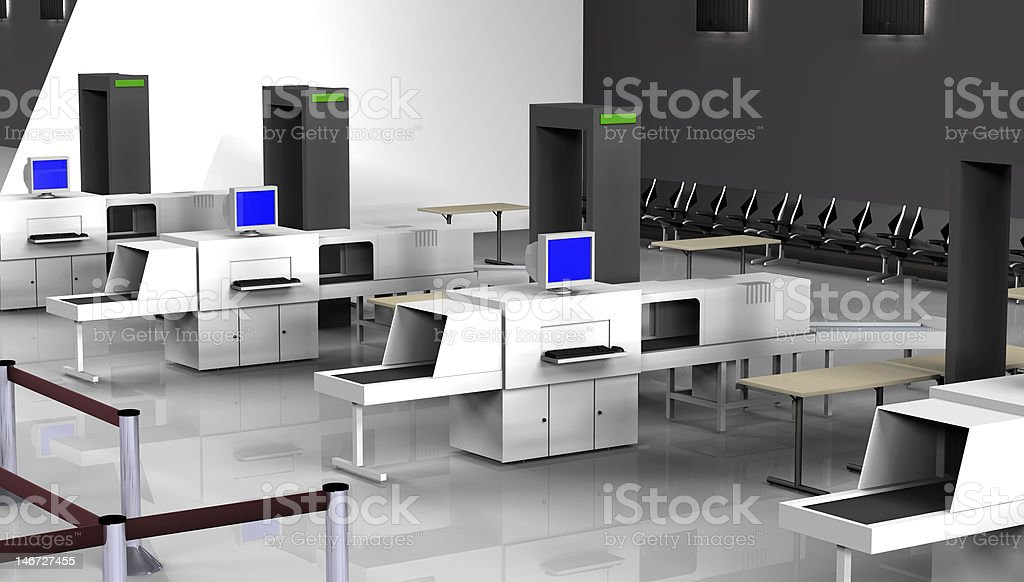 3d Render of luggage scan stock photo