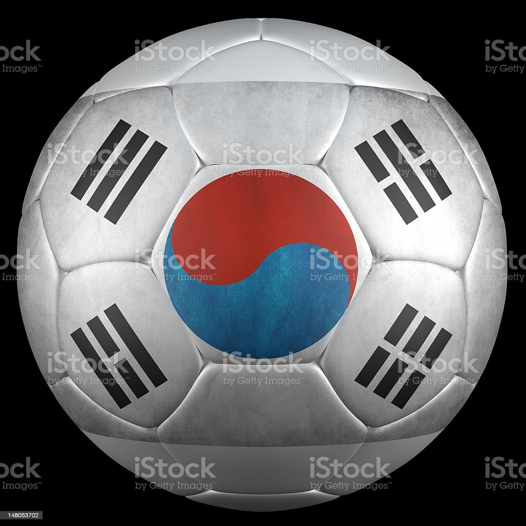3d render of soccer ball, south corea flag royalty-free stock vector art