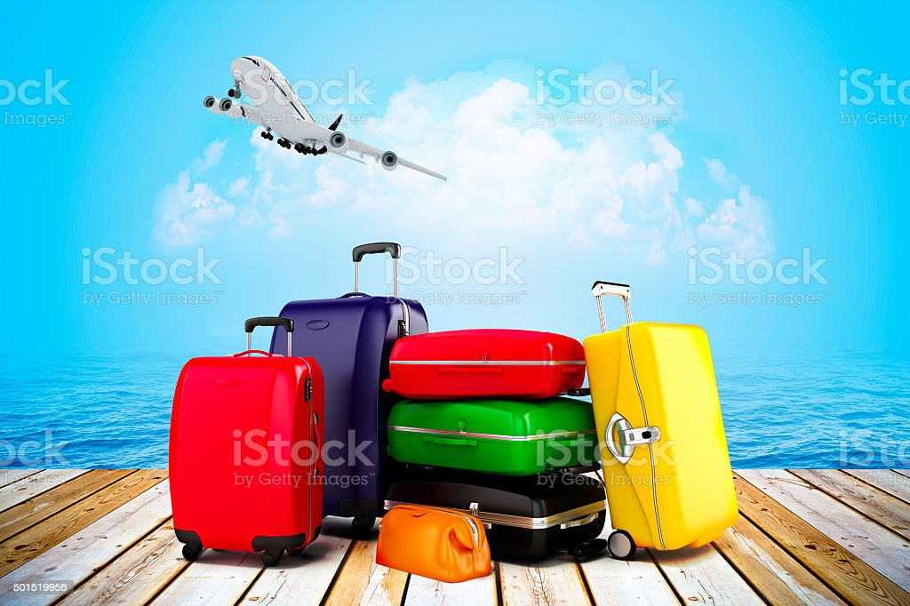 3d render - tourism and travel concept stock photo