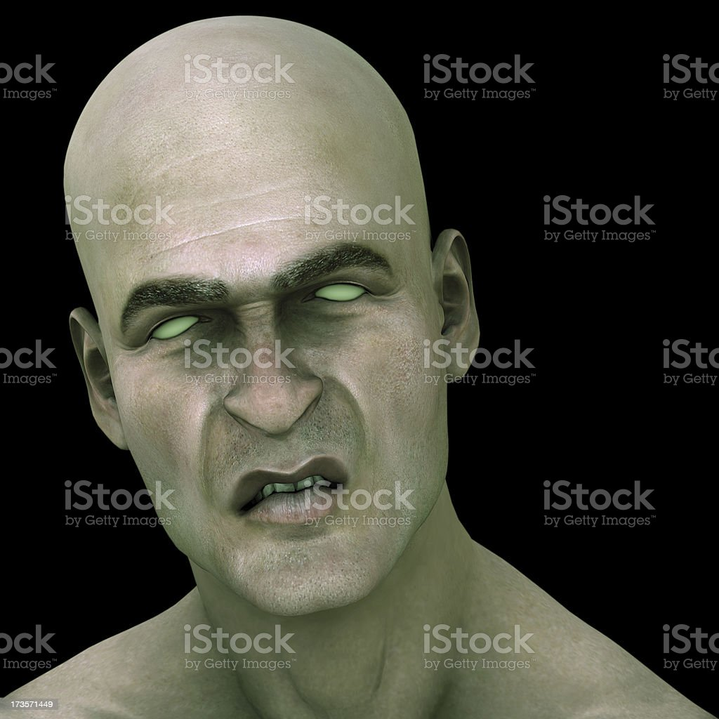 3d Render - Zombie royalty-free stock photo