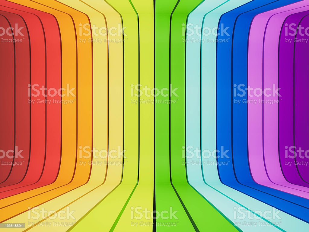 3d rendered, abstract rainbow stock photo