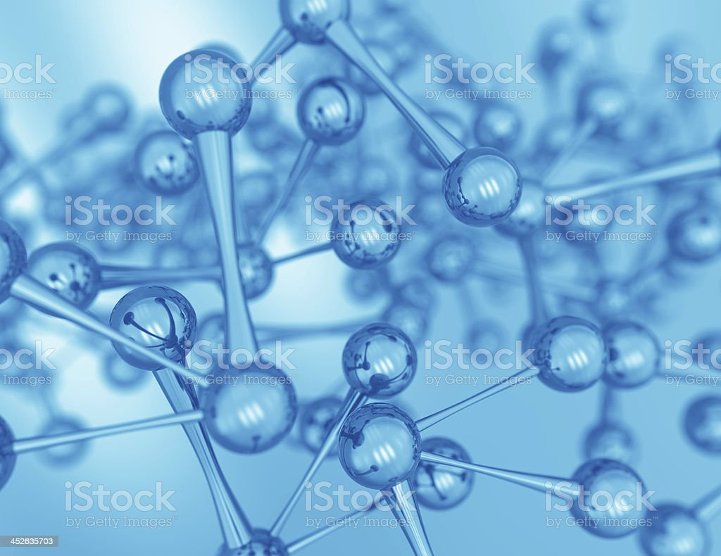 3d rendered science illustration of some molecules stock photo