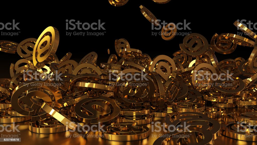 3d rendering e-mail stock photo