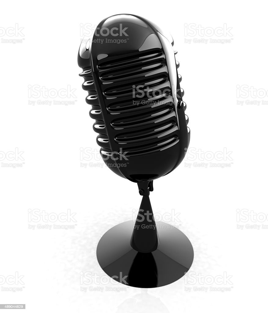 3d rendering of a microphone stock photo
