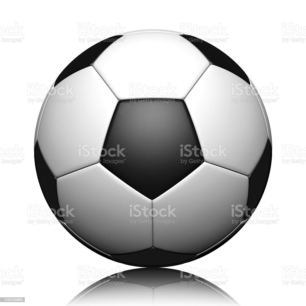 3d rendering of a soccer ball stock photo