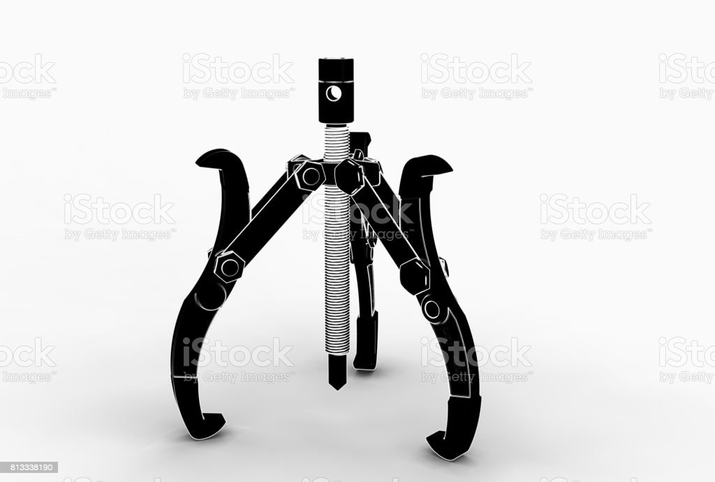 3d rendering of bearing puller stock photo