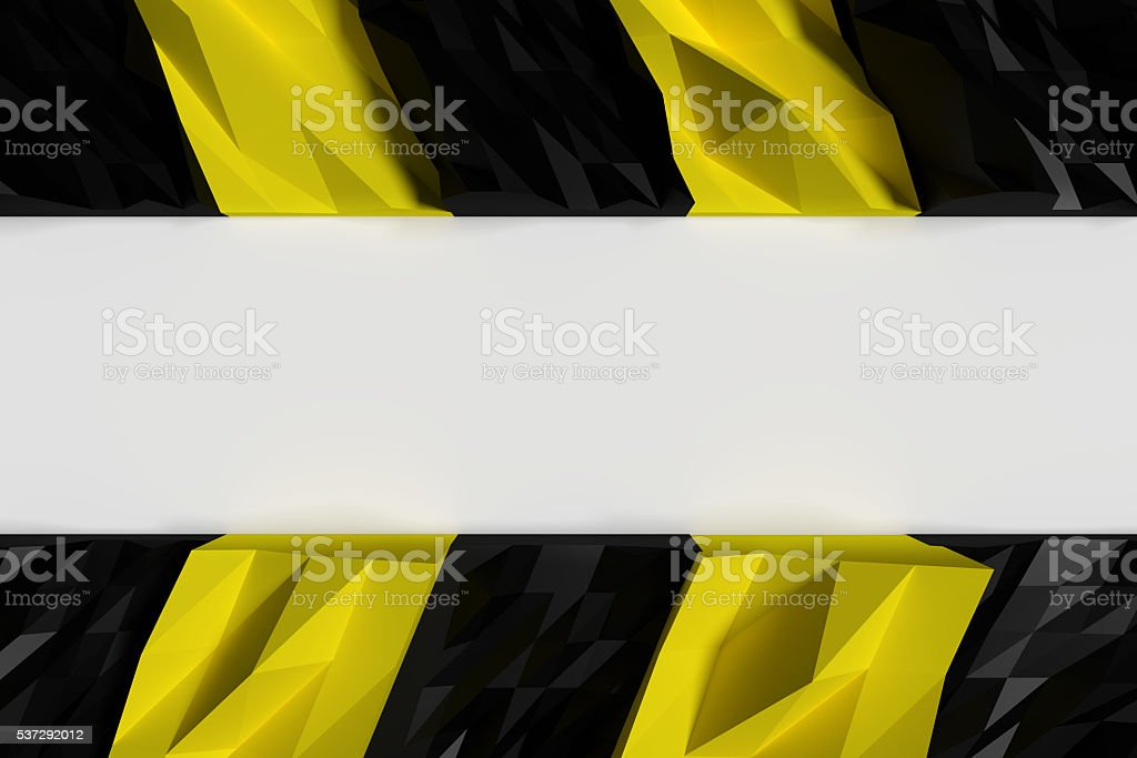 3d rendering of black and yellow pattern stock photo