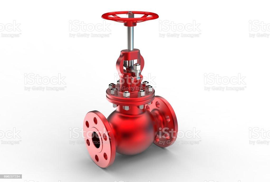 3d rendering of gas valve stock photo