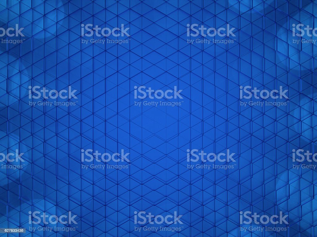 3d rendering of hexagonal abstract background stock photo
