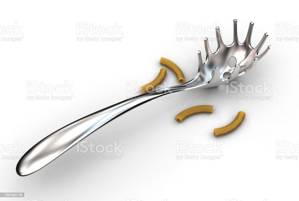 3d rendering of pasta scoop stock photo