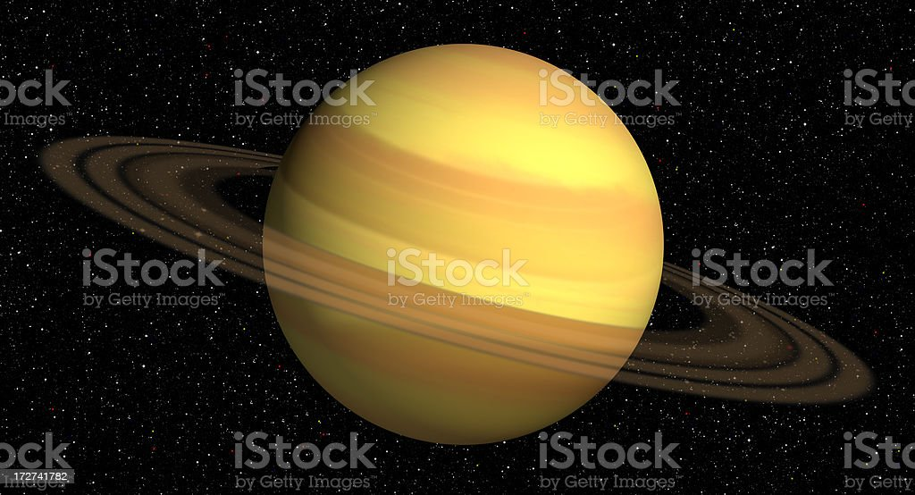 3d Rendering of Saturn stock photo