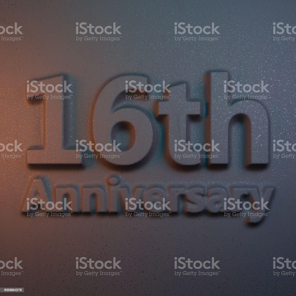 3d rendering relievo anniversary stock photo