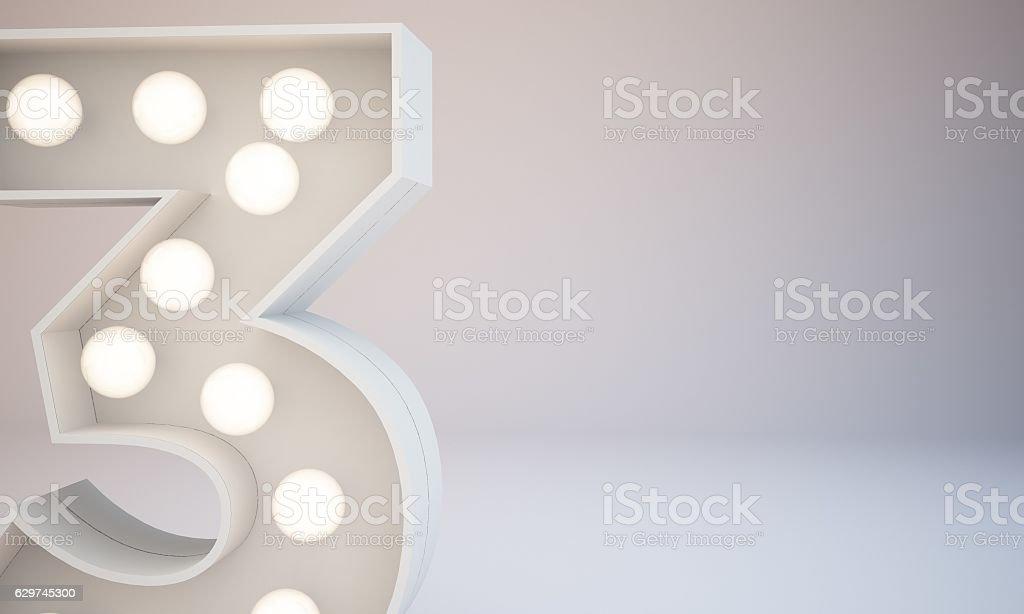 3d rendering white bulb type background illustration stock photo
