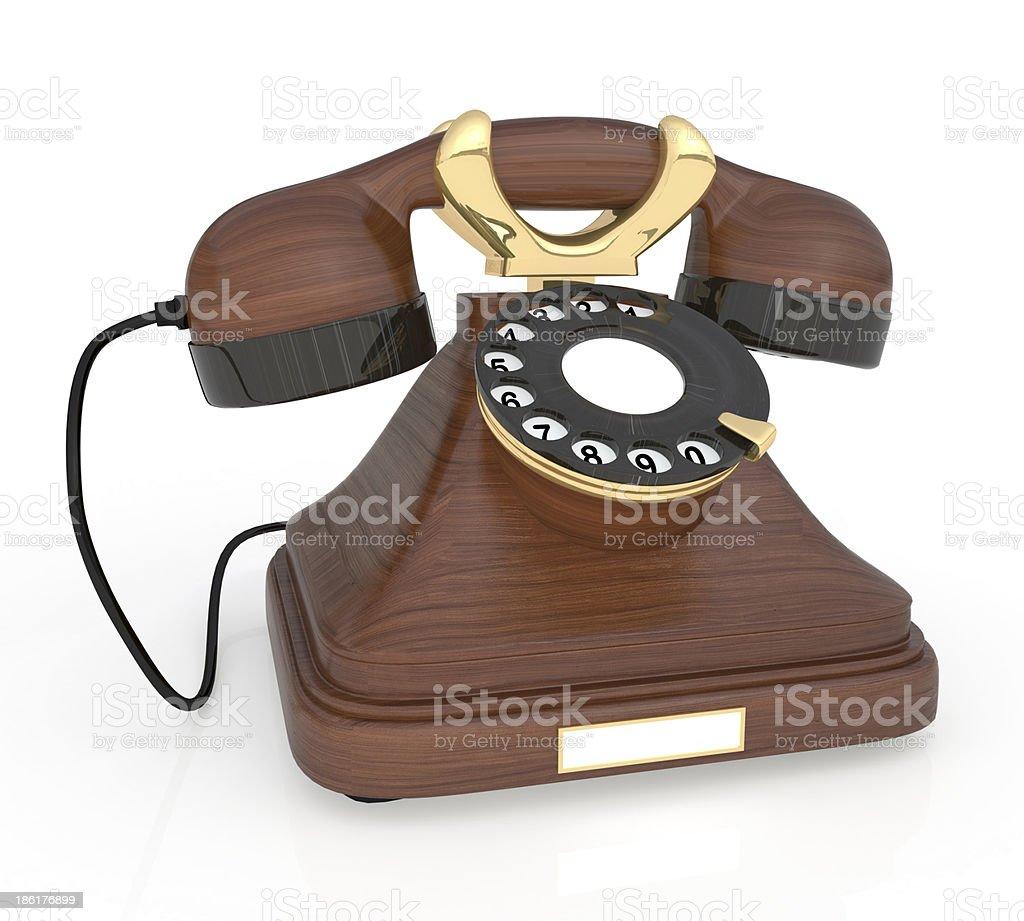 3d Retro phone. royalty-free stock photo