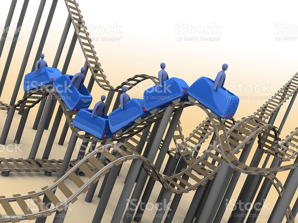 3d Rollercoaster royalty-free stock photo
