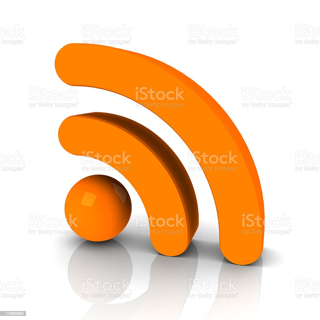 3d RSS feed icon royalty-free stock photo