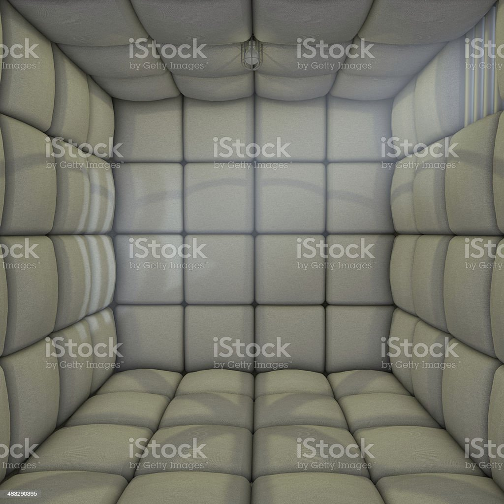 3d Rubber Room Padded Cell stock photo
