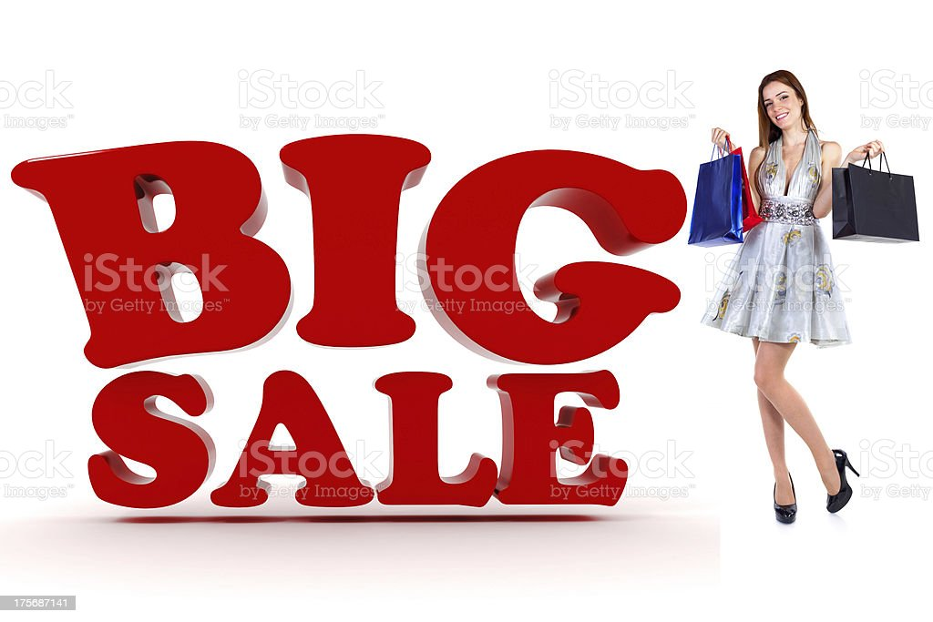 3d Sale text, on white background royalty-free stock photo