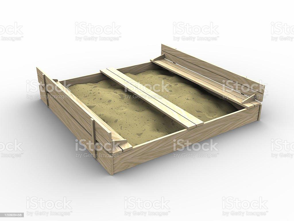 3d sandbox stock photo