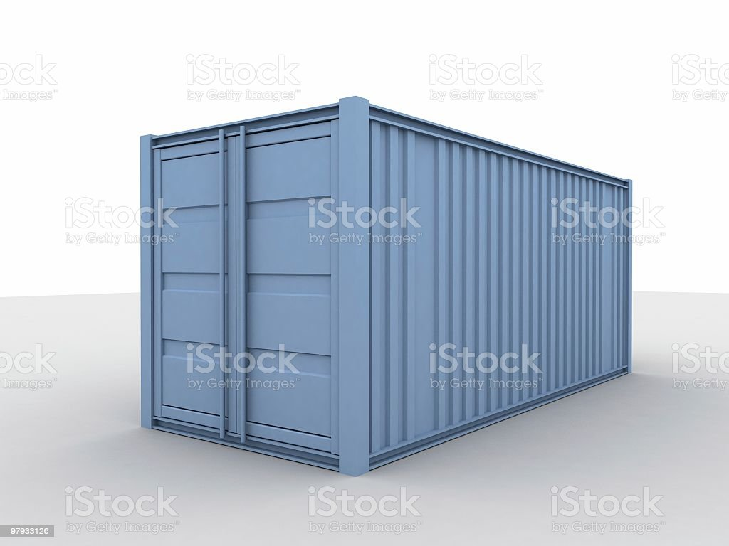 3d sea container royalty-free stock photo