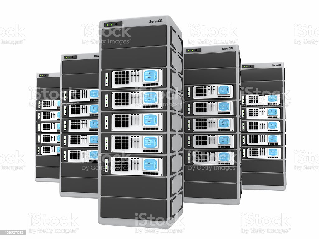 3d servers royalty-free stock photo