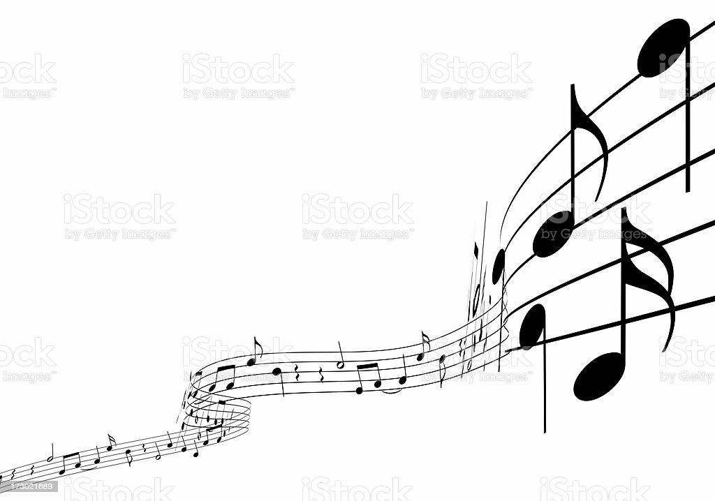 3d sheet music royalty-free stock photo