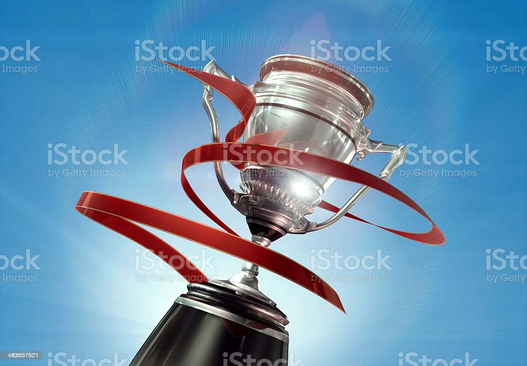 3d silver cup royalty-free stock photo