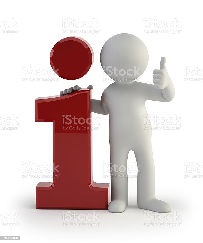 3d small people - info icon stock photo
