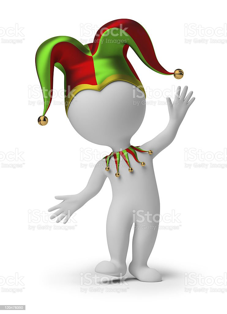 3d small people - jester stock photo