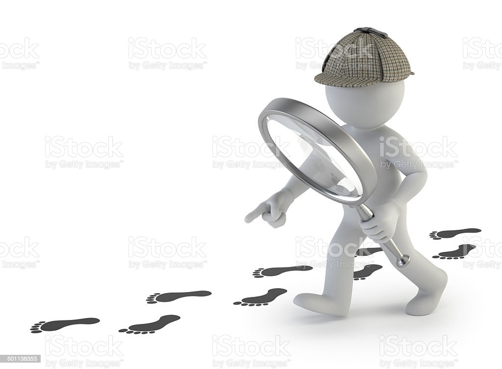 3d small people - super sleuth stock photo