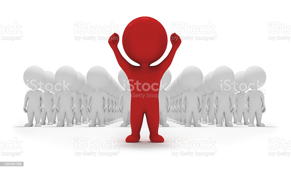 3d small people - volunteers royalty-free stock photo