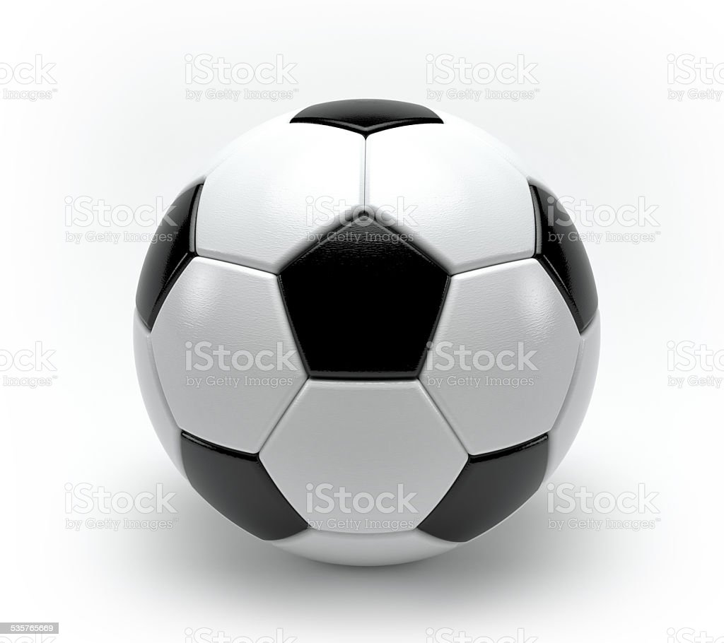 3d soccer ball stock photo