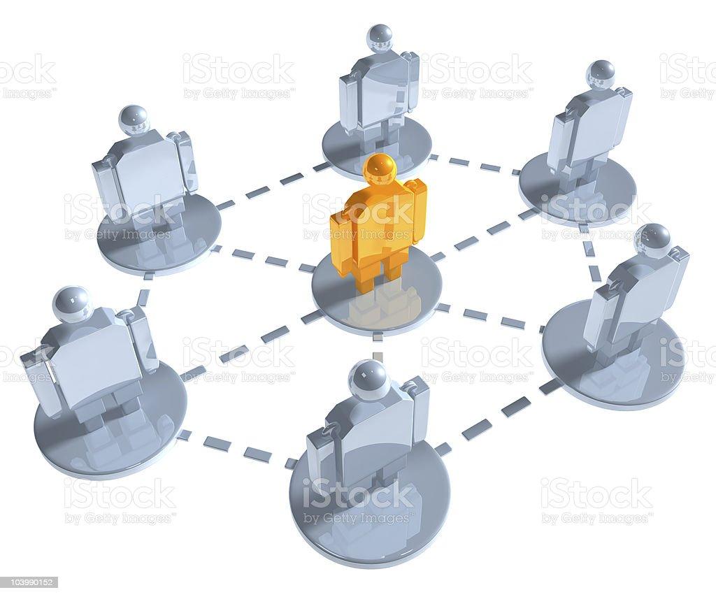 3d social network illustration stock photo