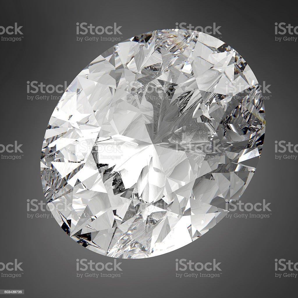 3d Sparkling Oval Diamond stock photo