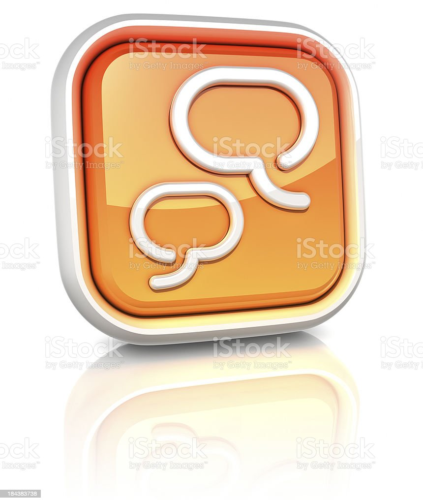 3d square icons - chat royalty-free stock photo