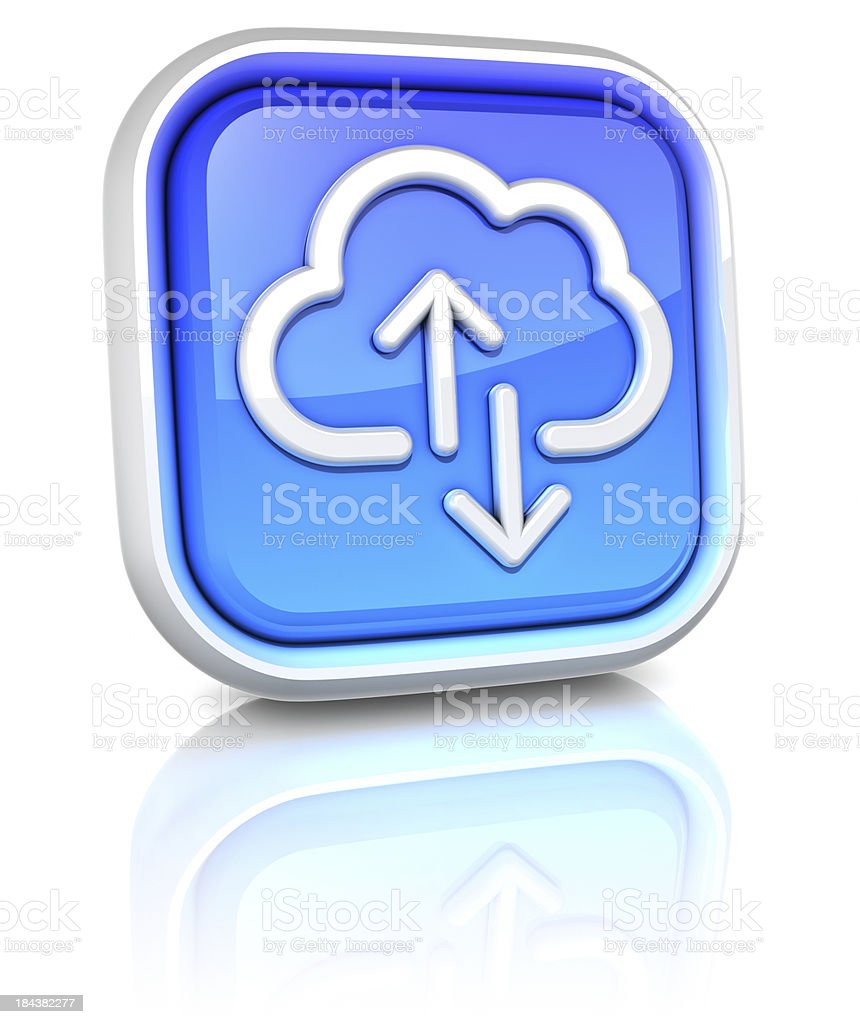 3d square icons - cloud computing royalty-free stock photo
