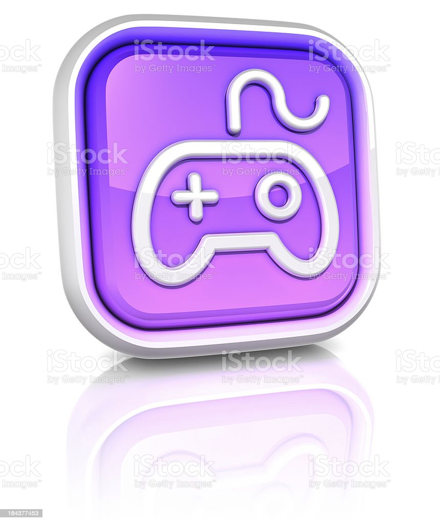 3d square icons - games royalty-free stock photo