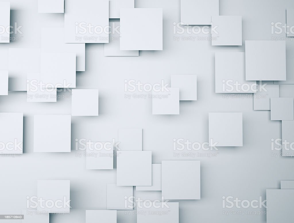 3d Squares Background stock photo