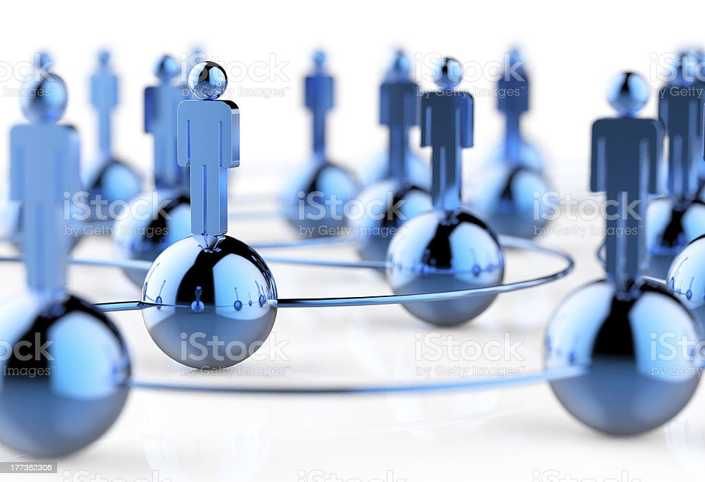 3d stainless human social network stock photo
