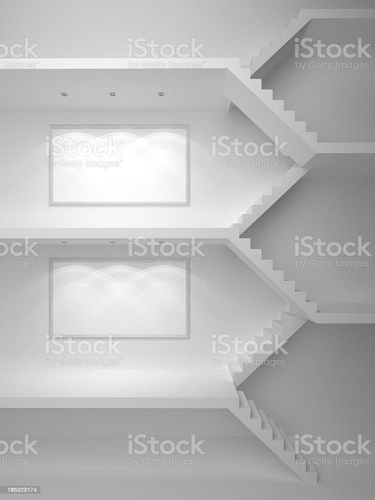 3d stairs background  horizontal stock photo