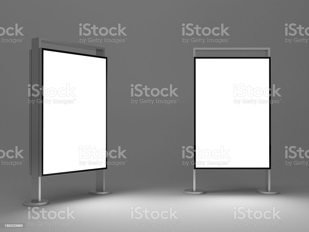 3d Standing advertising digital poster stock photo
