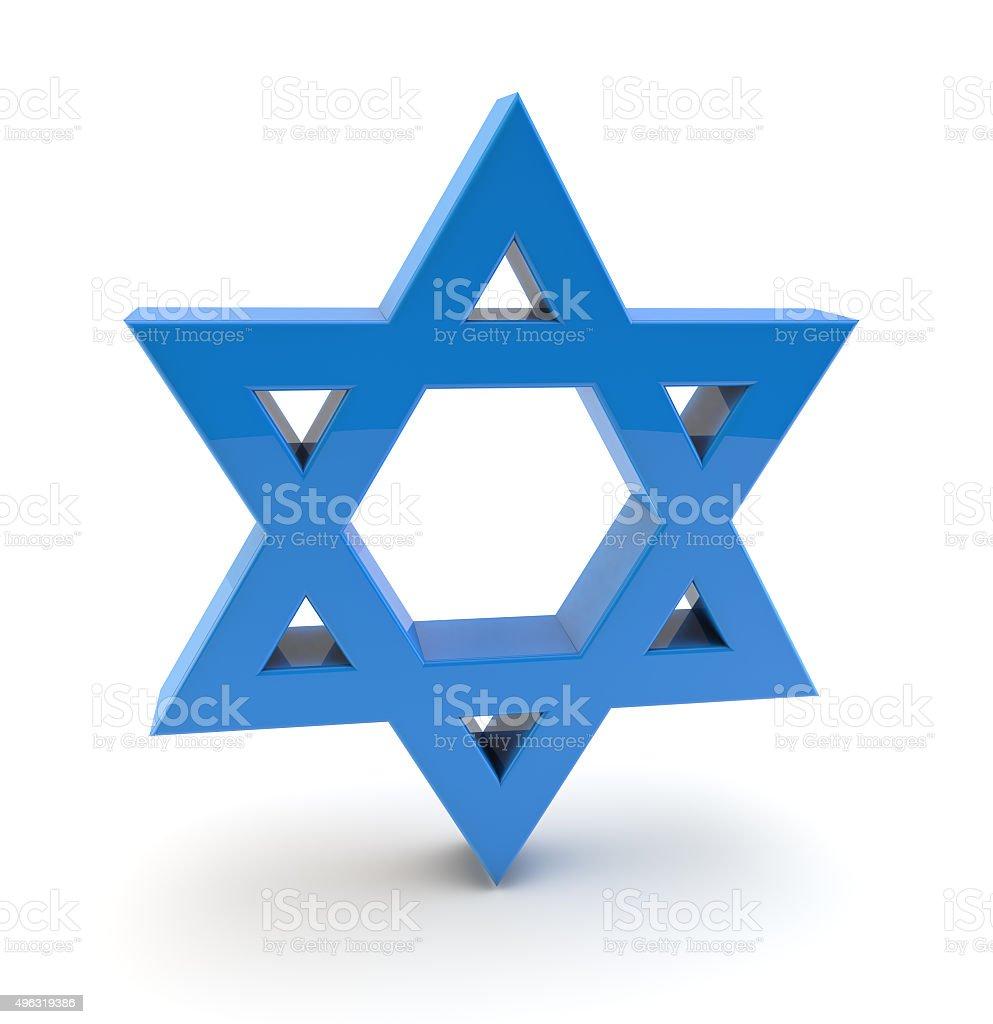 3d star of david symbol stock photo