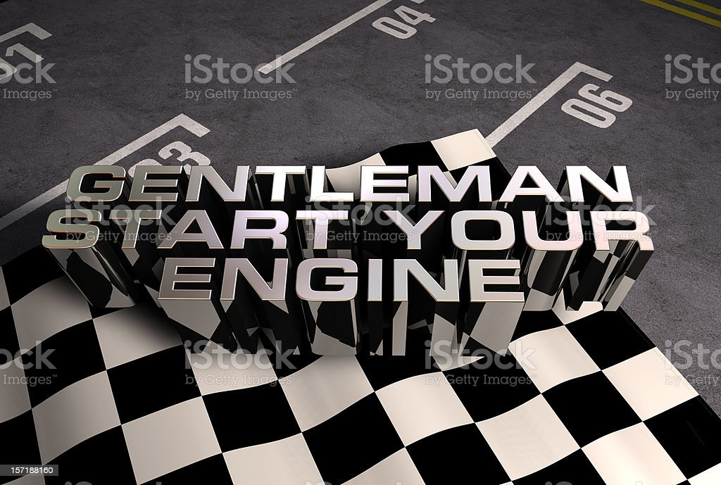 3d Start your engine royalty-free stock photo