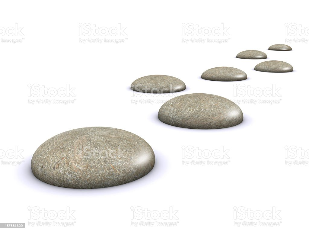 3d Stepping stones stock photo